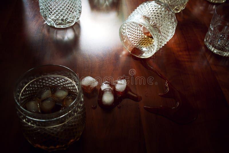 Gelo dos vidros fotos de stock
