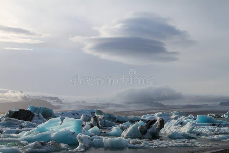 Gelo e nuvens fotografia de stock