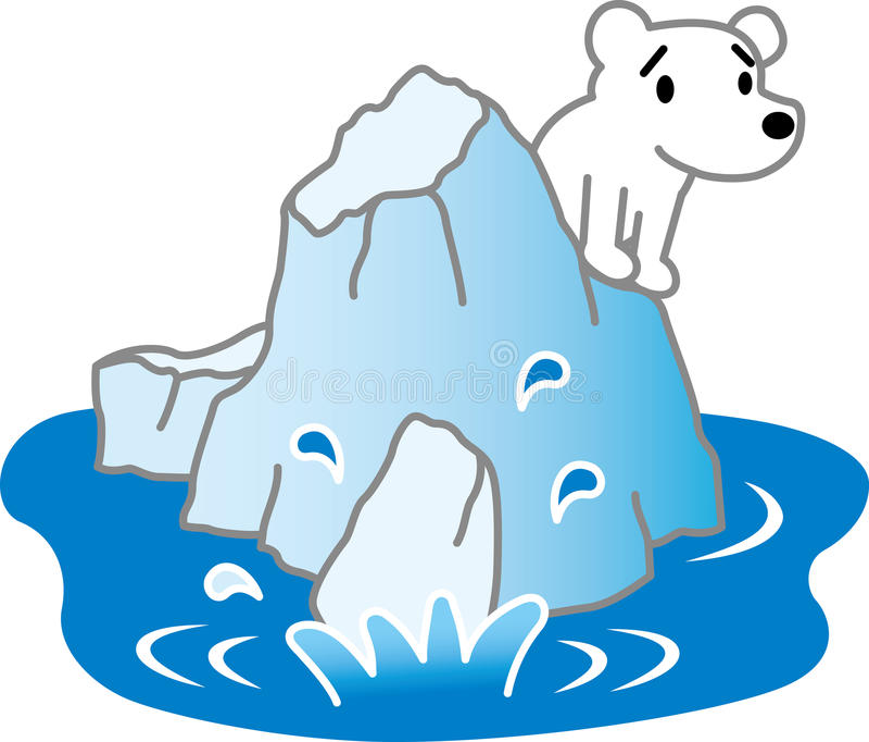 Gelo marinho e ursos polares ilustração royalty free