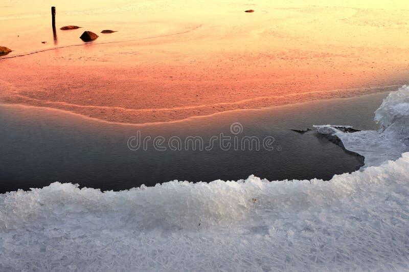 Gelo no Dnieper imagem de stock royalty free