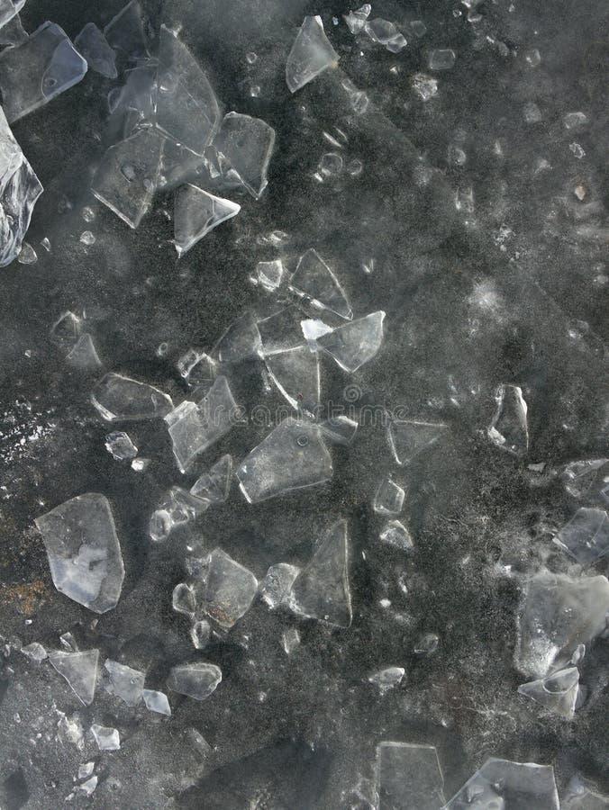 Gelo no lago foto de stock