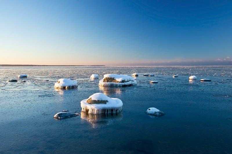 Gelo no mar imagens de stock