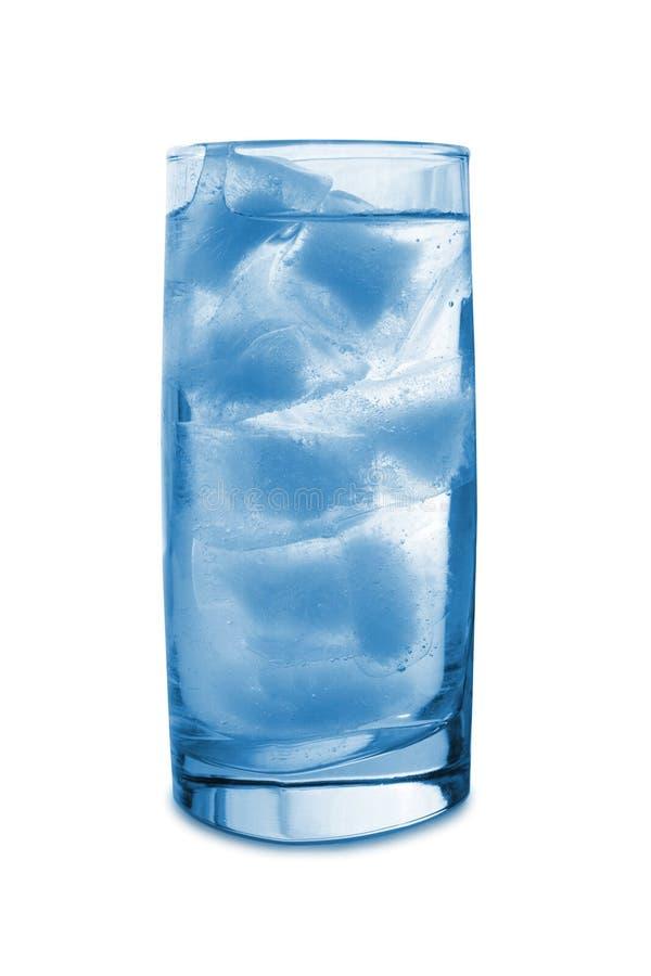 Gelo no vidro fotografia de stock