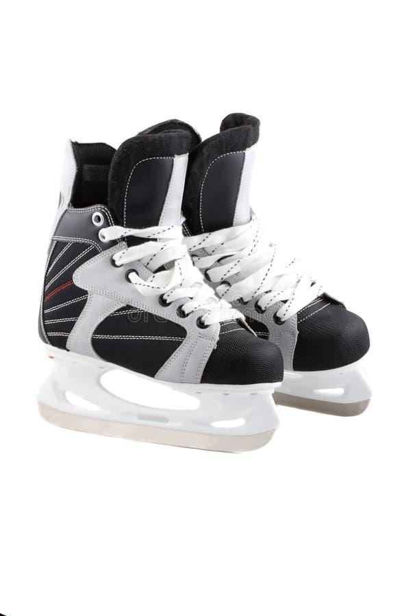 Gelo-patins isolados no branco. fotografia de stock