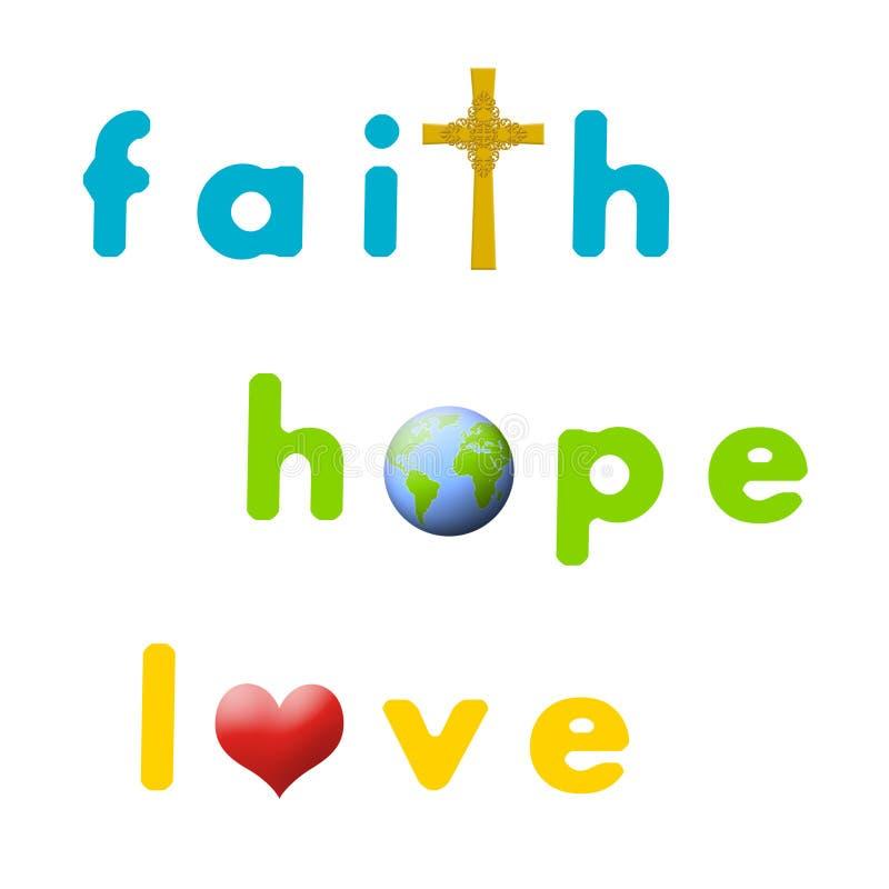 Geloof, Hoop, Liefde Royalty-vrije Stock Afbeeldingen