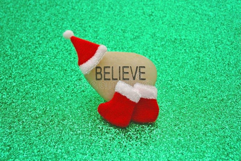 Geloof in Santa Claus Concept Image royalty-vrije stock foto's