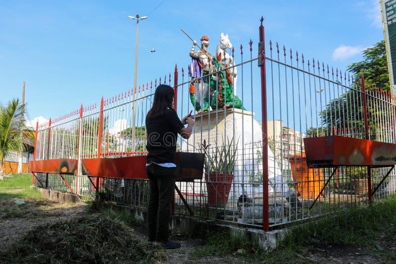 Geloof in St George in Rio de Janeiro stock afbeeldingen