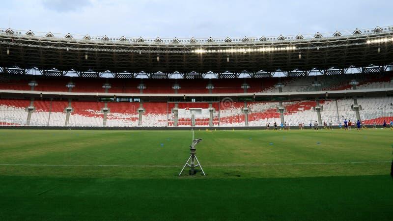 Gelora桶盖Karno体育场 免版税图库摄影