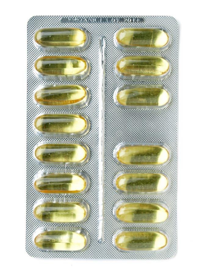 Gelpillestreifen lizenzfreie stockbilder