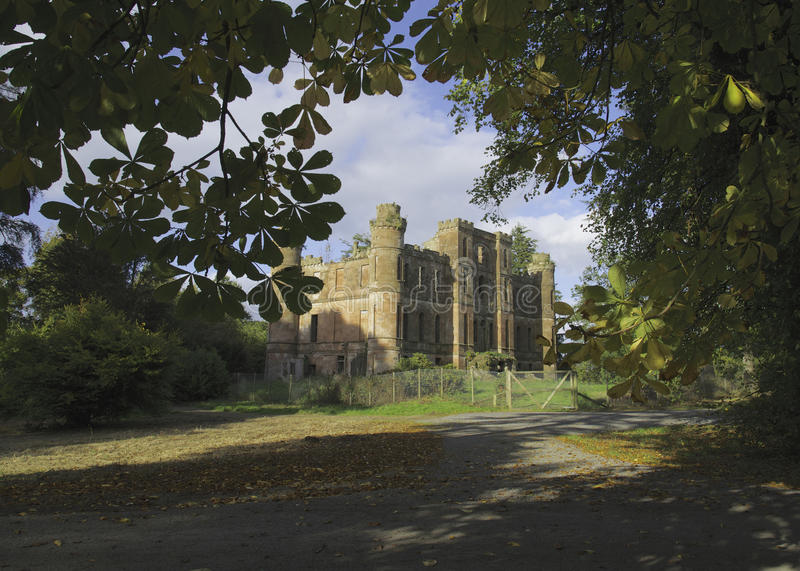 Gelston Castle Ruins royalty free stock photography