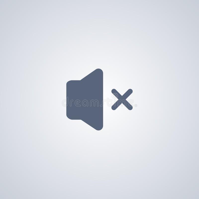 Geluid weg, Geen correct, vector beste vlak pictogram royalty-vrije illustratie