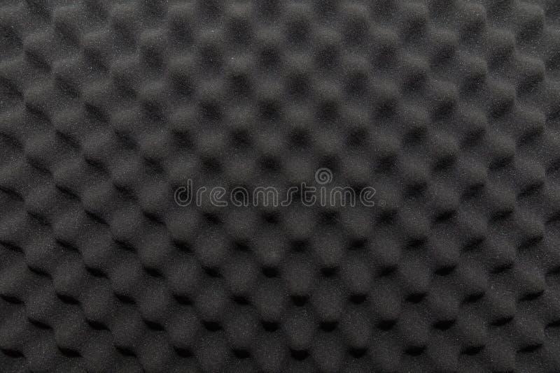 Geluiddichte muur in correcte studio, achtergrond van geluiddempende spons stock fotografie