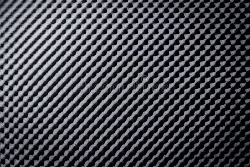 Geluidsbestendig Akoestisch zwart grijs schuim absorbeert royalty-vrije stock foto's