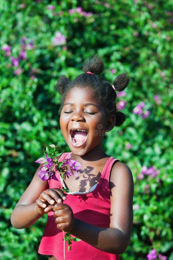 Gelukkig Afrikaans kind royalty-vrije stock afbeelding