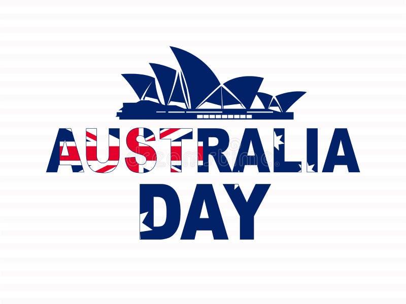 Gelukkig Australië dag 26 de feestelijke achtergrond van januari royalty-vrije illustratie