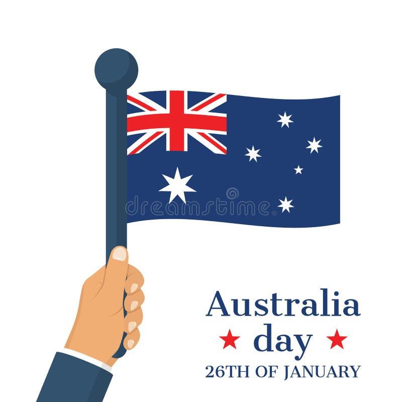 Gelukkig Australië dag 26 januari stock illustratie