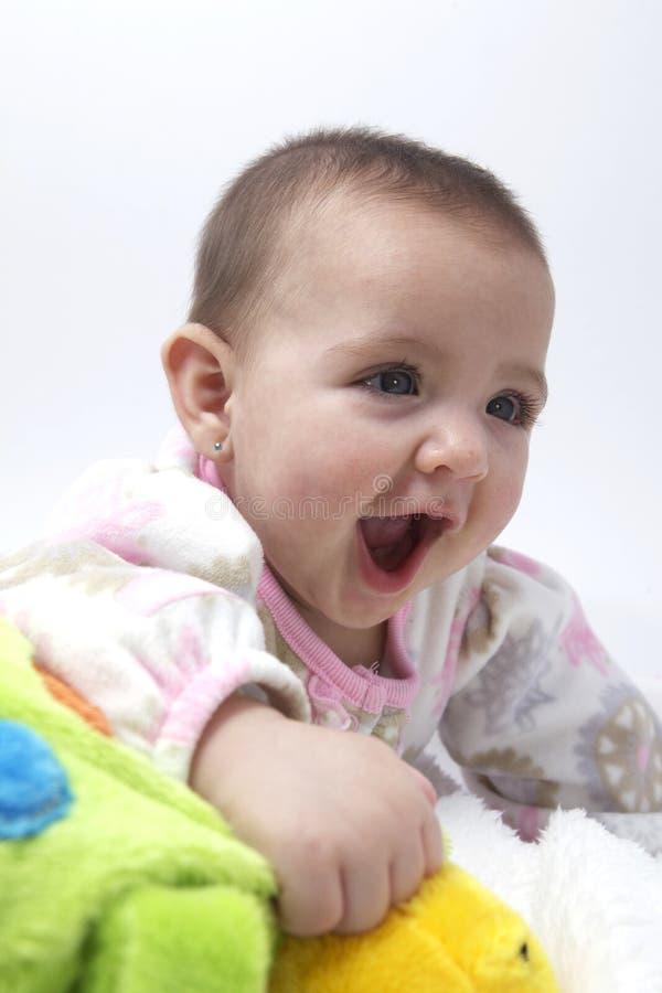 Gelukkig babymeisje stock foto's