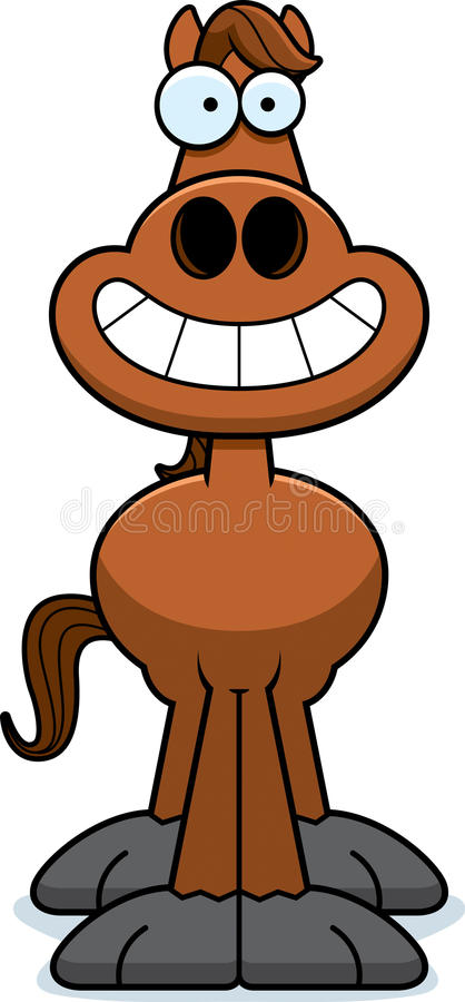 Gelukkig Beeldverhaalpaard vector illustratie