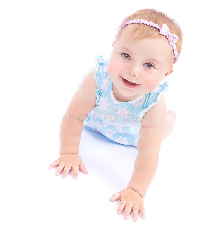 Gelukkig blij babymeisje royalty-vrije stock afbeeldingen