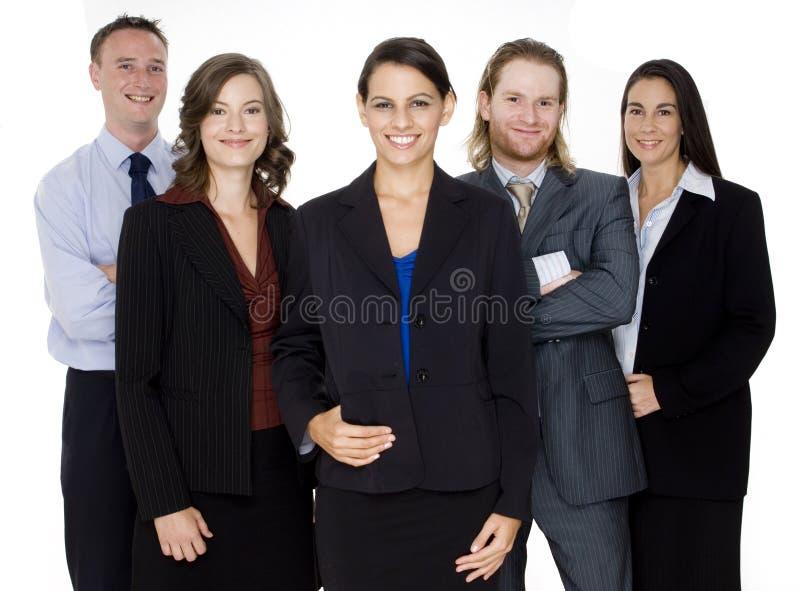 Gelukkig Commercieel Team stock afbeelding
