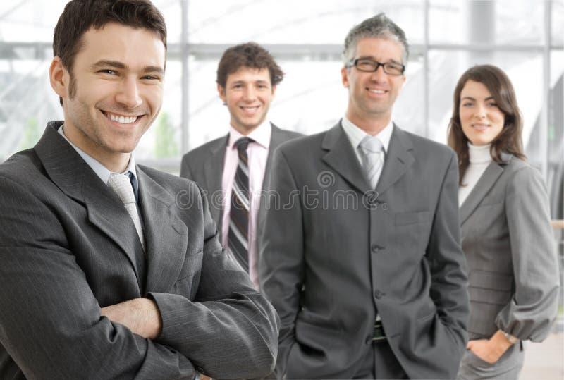 Gelukkig commercieel team royalty-vrije stock foto's