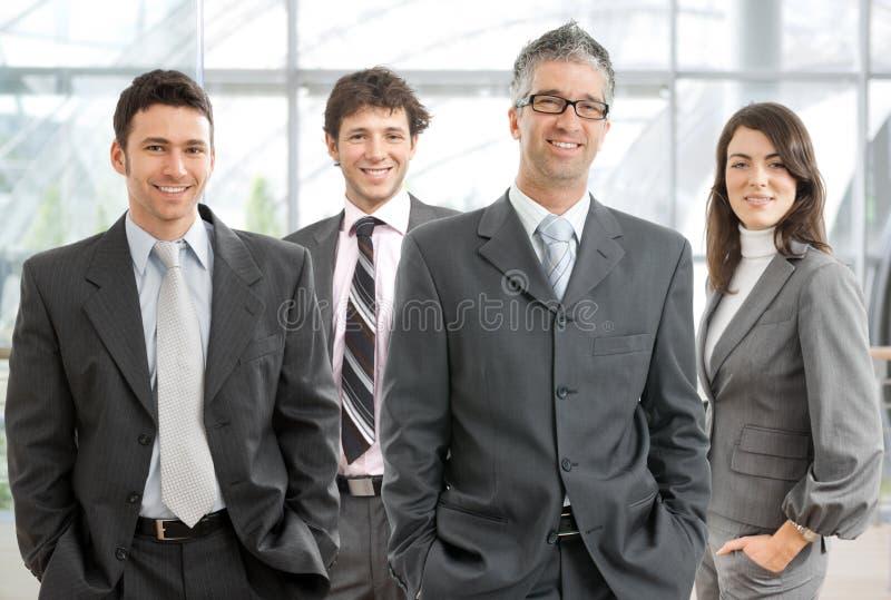 Gelukkig commercieel team stock fotografie