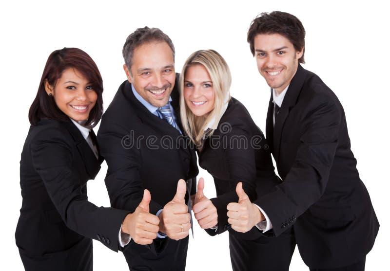 Gelukkig commercieel team dat een succes viert stock afbeelding