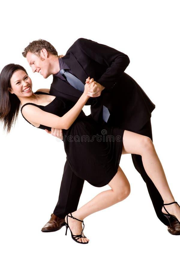 Gelukkig dansend paar royalty-vrije stock foto's