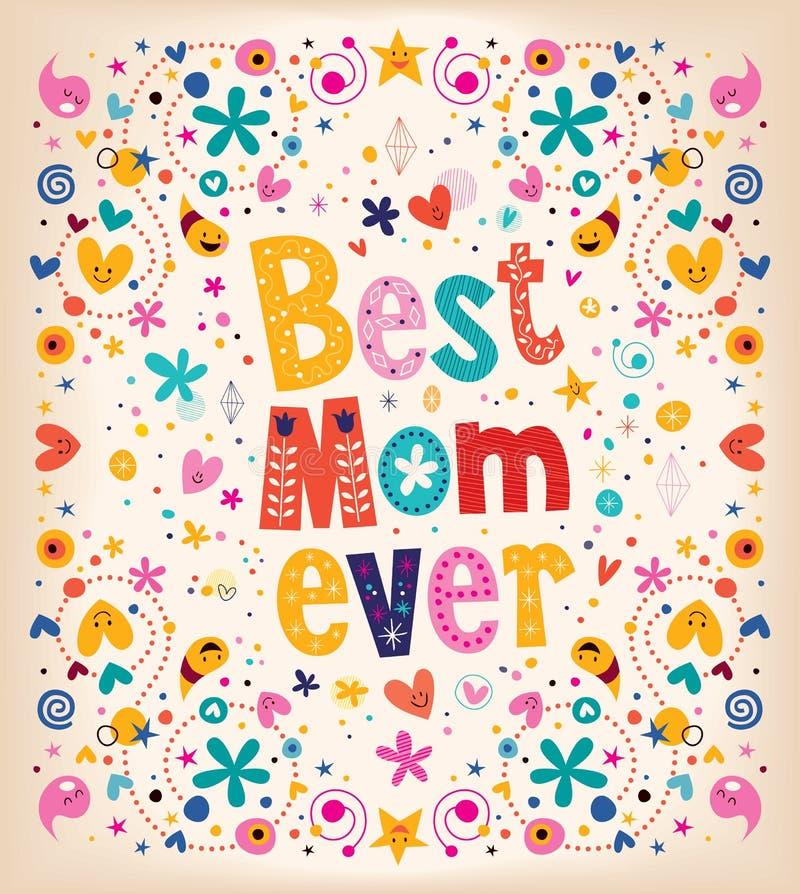 Gelukkig de kaart Beste Mamma van de Moedersdag ooit stock illustratie