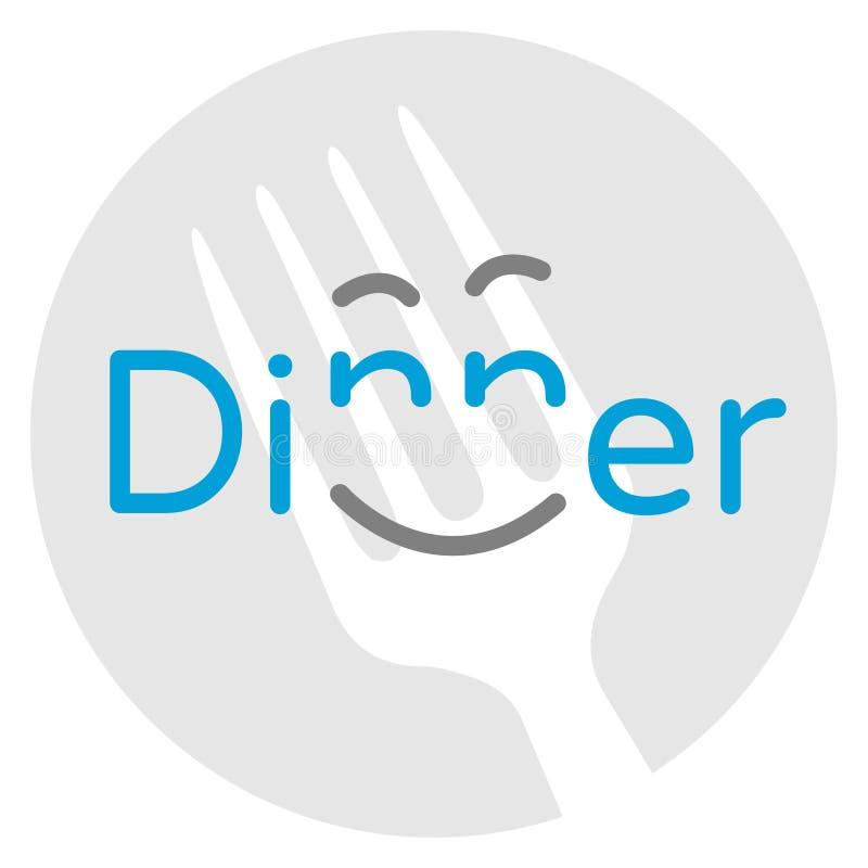 Gelukkig Diner vector illustratie