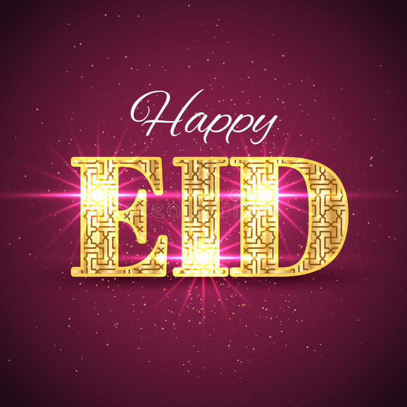 Gelukkig Eid Islamic Greeting Background stock illustratie