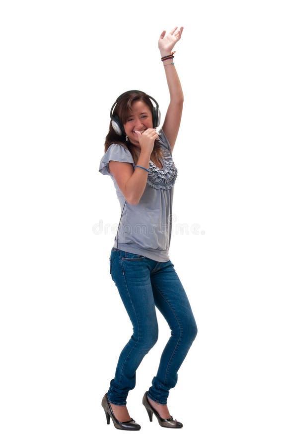 Gelukkig en dansend stock afbeeldingen