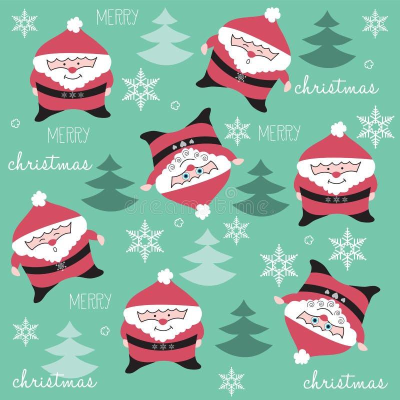 Gelukkig en grappig Santa Claus-patroon vector illustratie