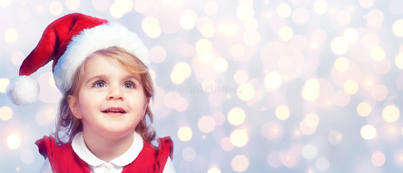 Gelukkig en Leuk Kind met Santa Hat royalty-vrije stock fotografie