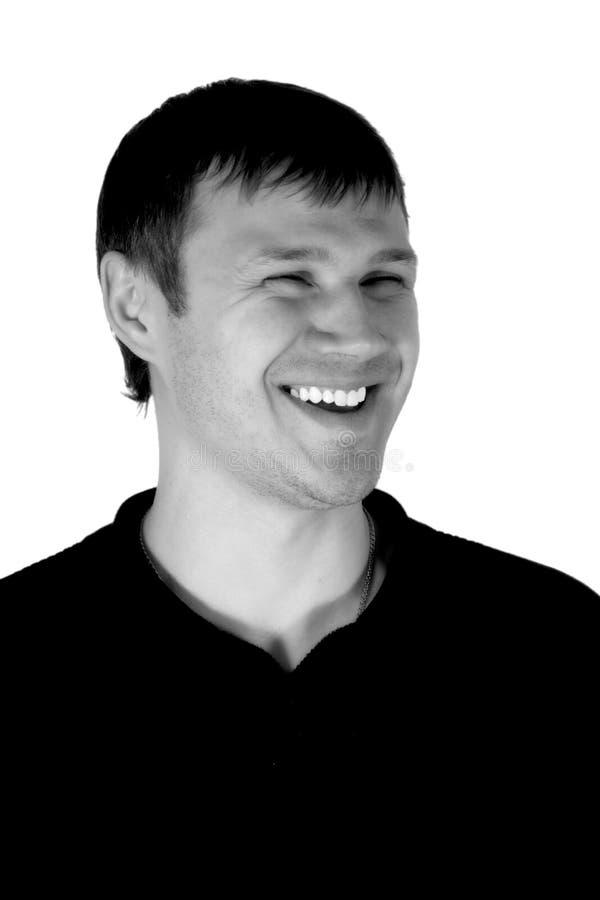 Gelukkig, glimlachend de man. stock afbeelding