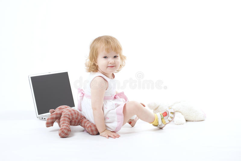 Gelukkig glimlachend meisje royalty-vrije stock afbeelding