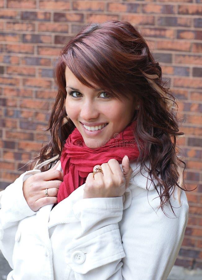 Gelukkig glimlachend meisje stock afbeelding