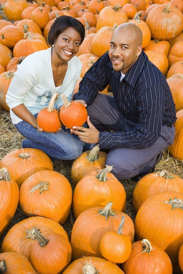 Gelukkig glimlachend paar. stock fotografie