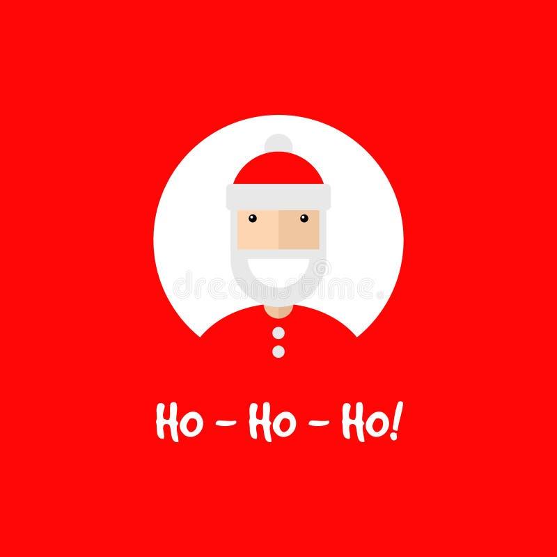 Gelukkig glimlachend Santa Claus-karakter royalty-vrije illustratie