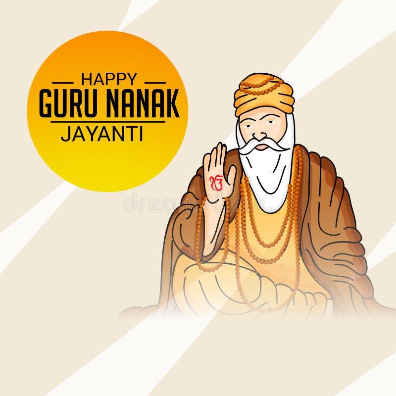 Gelukkig Guru Nanak Jayanti royalty-vrije illustratie