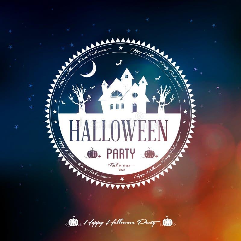 Gelukkig Halloween-Etiket