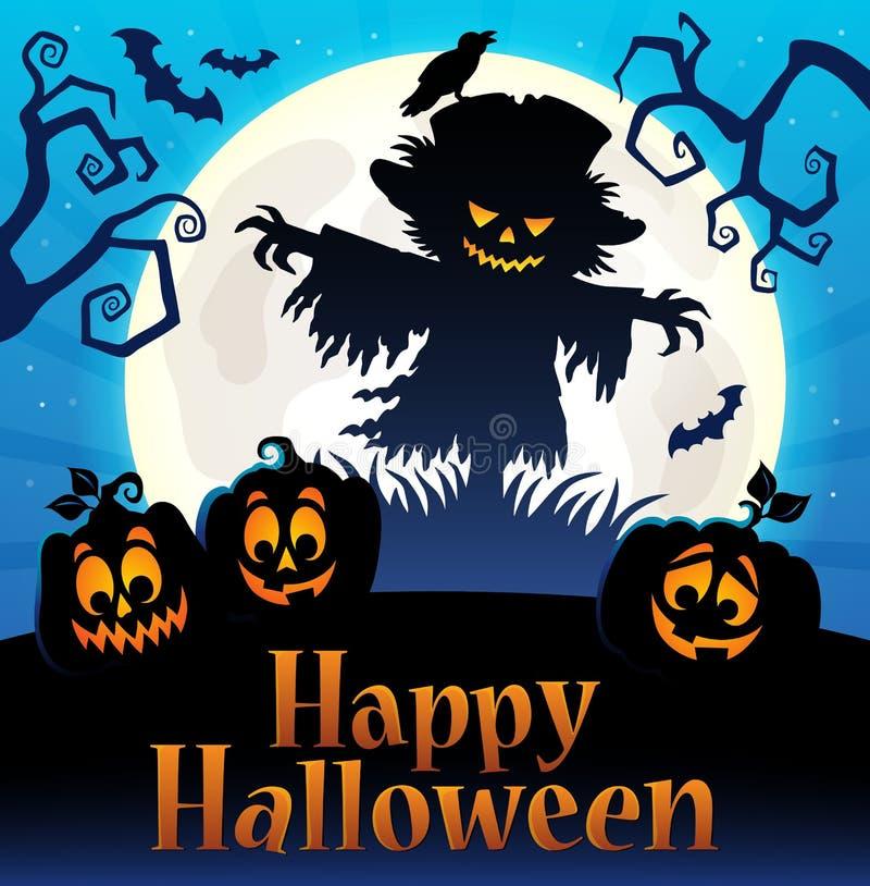 Gelukkig Halloween-teken thematisch beeld 4 stock illustratie