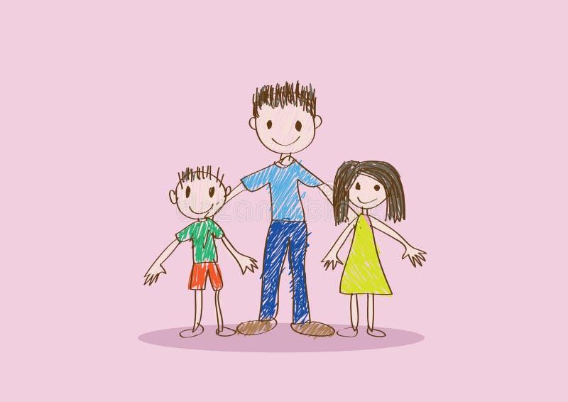 Gelukkig het ideeontwerp van de Vaderdagkaart royalty-vrije illustratie