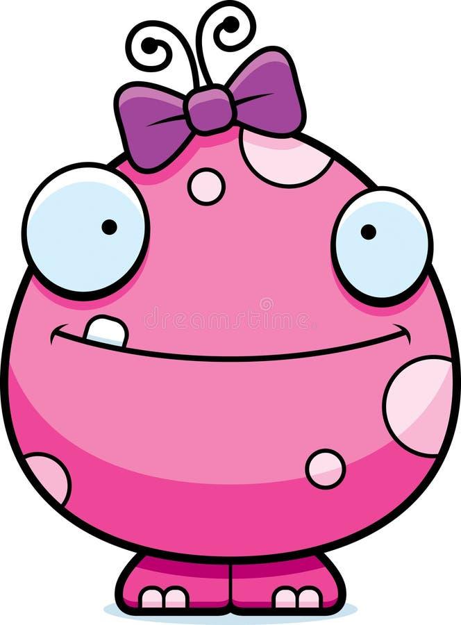 Gelukkig het Meisjesmonster van de Beeldverhaalbaby vector illustratie