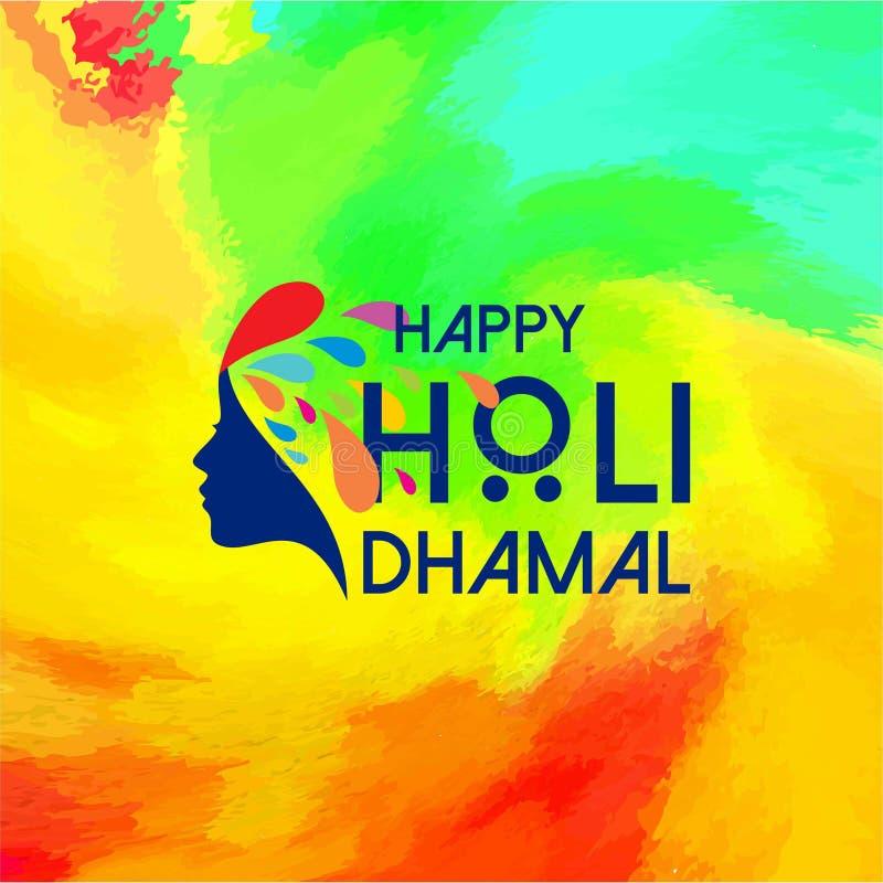 Gelukkig Holi-Festival veelkleurige holiachtergrond die creatief hebben royalty-vrije illustratie