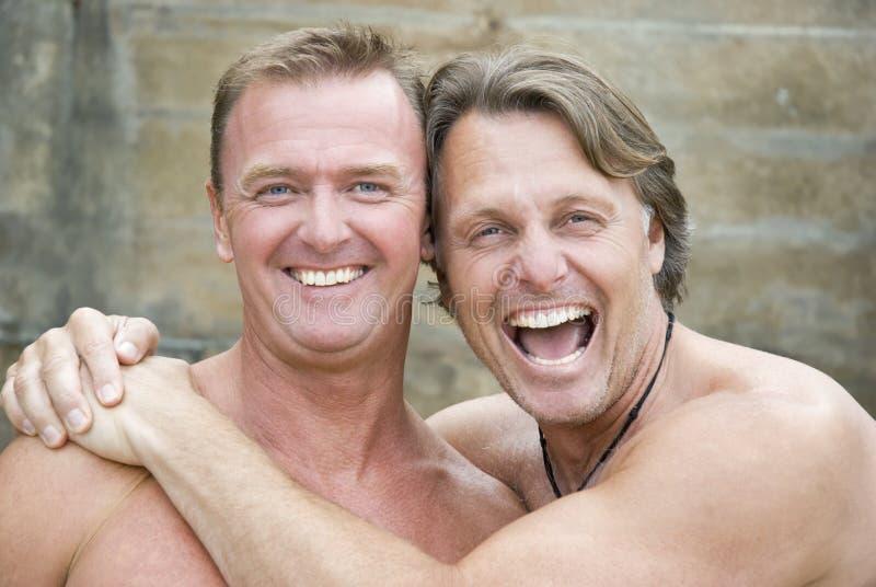 Gelukkig homoseksueel paar. stock foto's