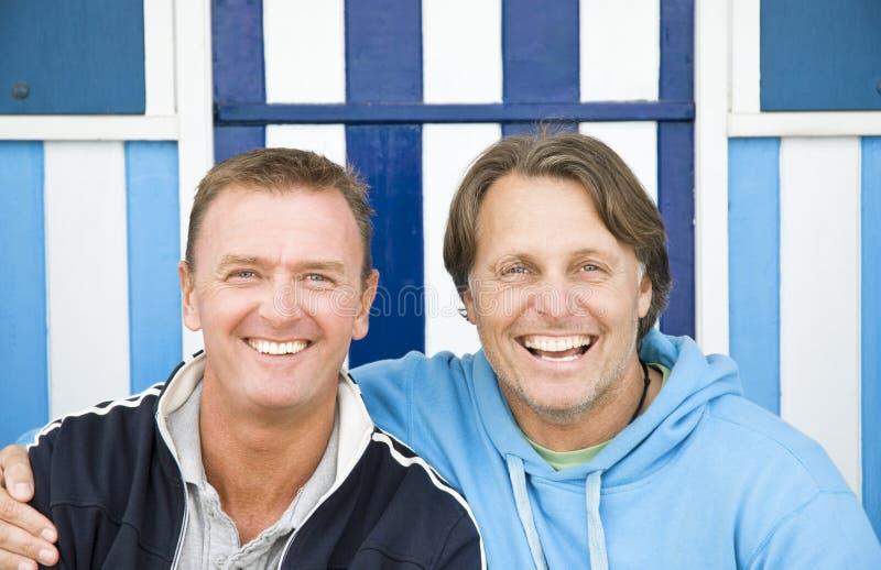 Gelukkig homoseksueel paar. royalty-vrije stock fotografie