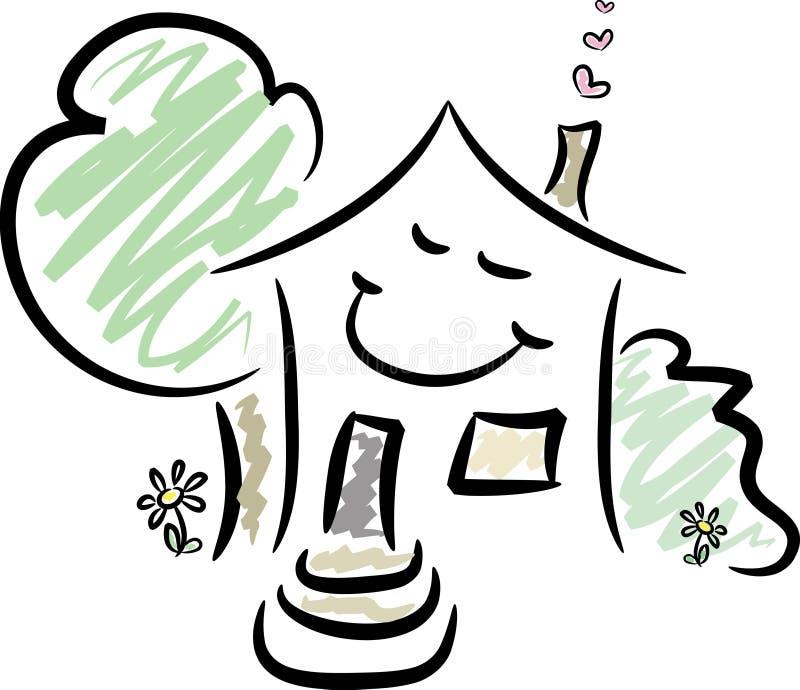 Gelukkig Huis stock illustratie