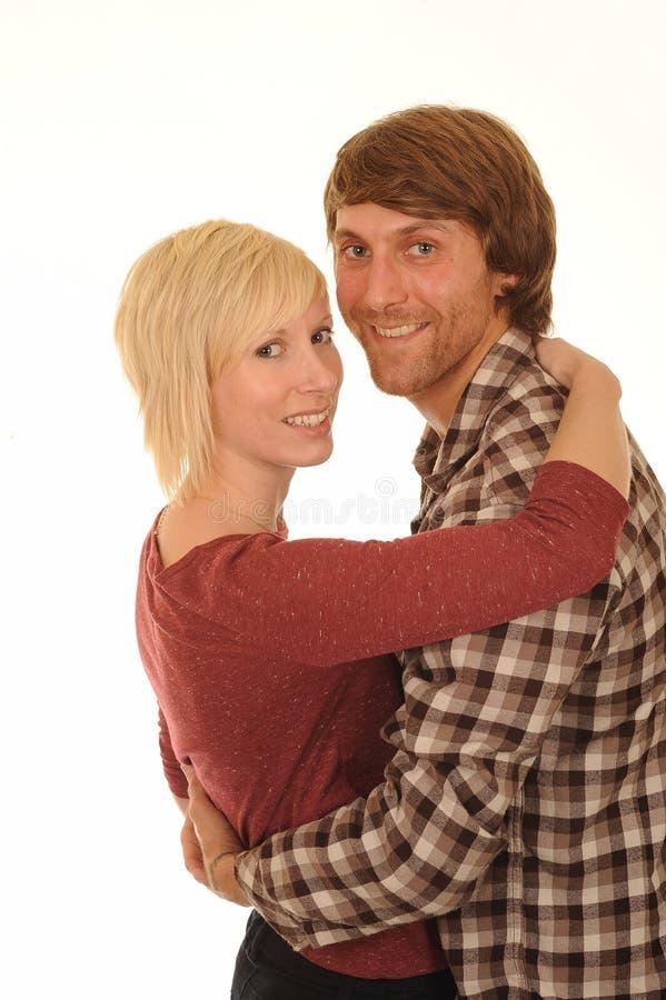 Gelukkig jong paar in liefde royalty-vrije stock afbeelding