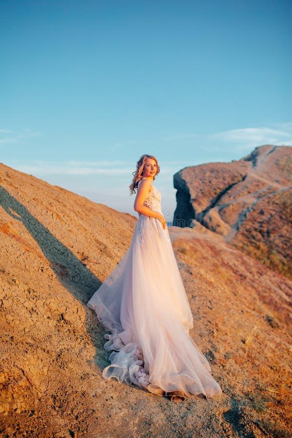 Gelukkig jonggehuwdepaar Mooie bruid en bruidegom in een kostuum stock fotografie